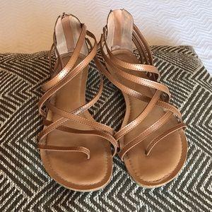 Tan Carlos Santana strappy sandals